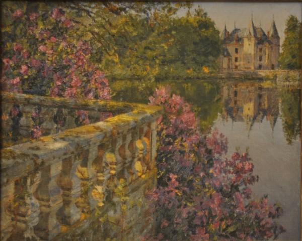 """« A l'autre extrémité de l'étang il y avait la"""" Petite terrasse"""" dont la balustrade de pierre était entourée de magnifiques rhododendrons. »"""