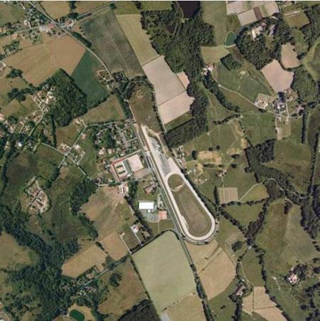 Vue aérienne de l'hippodrome actuel