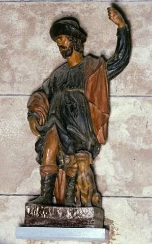 Statuette de Saint Roch. Photo DRAC Limousin