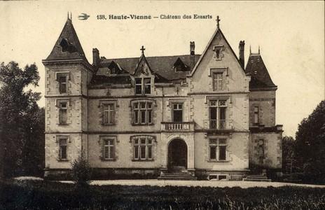 Château Les Essarts Breuillaufa. CPA collection privée.