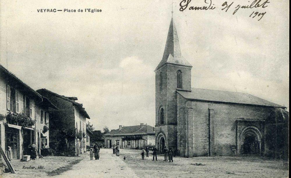Eglise de Veyrac CPA collection privée.